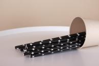 Соломинка паперова «Зірка» чорна, 20 см, 5 мм, 25 шт.