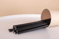 Соломинка паперова чорна, 20 см, 5 мм, 25 шт.